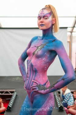 Body painting design- Artiste Ayesha Weekes